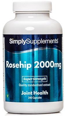 Hagebutte 2000mg - 240 Kapseln - Versorgung für bis zu 8 Monaten - kann das Immunsystem unterstützen - Simply Supplements -