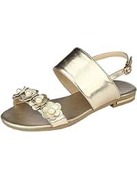 COOLCEPT Mujer Beaded Boda Sandalias Verano Beach Vestir Tacon de Vaquero Zapatos (33 EU , White)