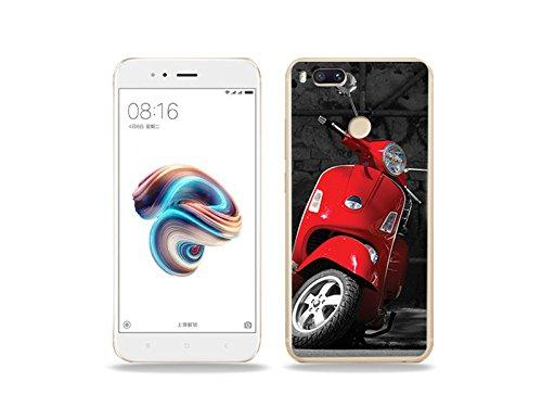 etuo Xiaomi Mi5X - Hülle Foto Case - Roter Motorroller - Handyhülle Schutzhülle Etui Case Cover Tasche für Handy