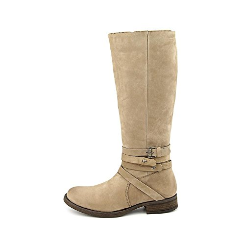 Nubukleder Stone Stiefel Adriian Mode-knie Damen Hoch Steve Rund Madden