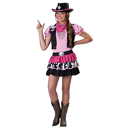 Cowgirl Kostüm Kinder Gr. 134 rosa Karneval (Kinder Kostüme Cowgirl)
