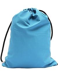 ab7f9f5fea244 Gym Bag Turnbeutel Rucksack Sporttasche - aus Mid Blue Webstoff