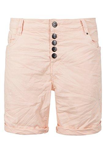 Eight2Nine Damen Stretch-Twill Bermuda Shorts | Kurze Hose mit Aufschlag in Schwarz, Weiß & Rosa Rose M (Damen-stretch-twill-bermuda)