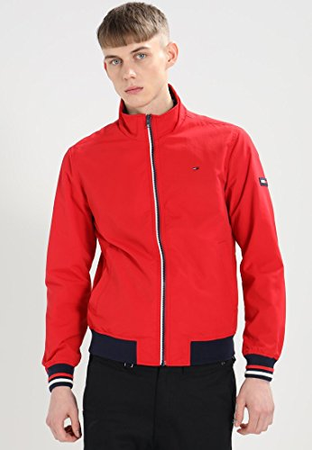 Hilfiger Denim Herren Jacke Thdm Basic Casual Bomber 22 Rosa (Racing Red 683)