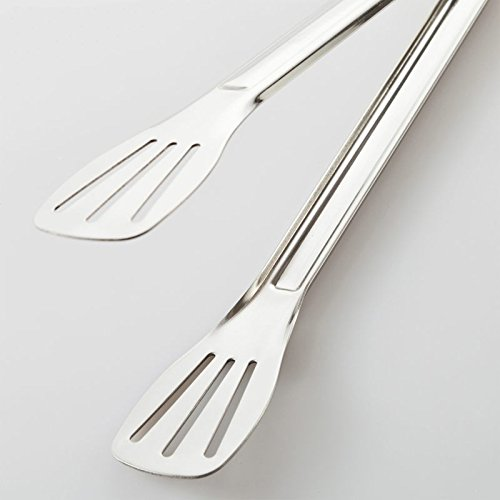 Xing Lin Zange für Spaghetti Grill Lebensmittel Gebratenes Steak BBQ Essen Werkzeug Clip Brot Teller auf Basis von gekochte Fleisch zum Dampf Brot Focaccia dem Dampf gekocht in Edelstahl 24cm (Buffet-basis)