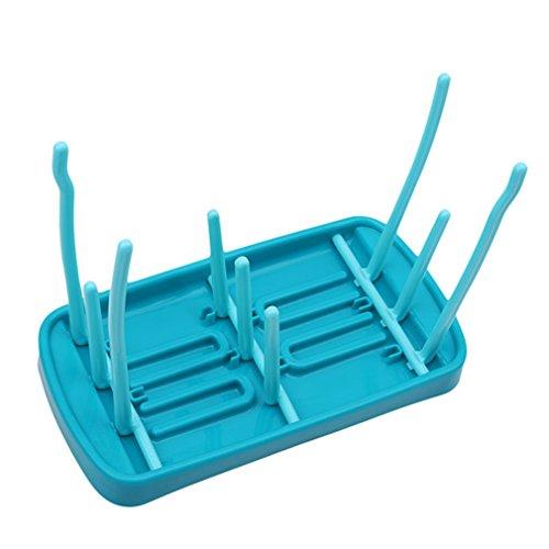 Yinew Dish-Wäscheständer, tri-fold Kunststoff-Tasse Becher Organizer Drainer, Küchen-Utensilien Trockner-Halter, plastik, blau, Siehe Produktbeschreibung