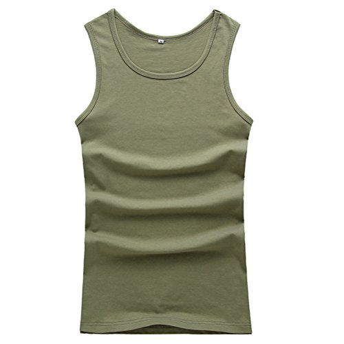 Zhuhaitf Moda Summer Mens Sleeveless Vests Basic Cotton Ribbed Tees Tank Tops (Basic Cotton Ribbed Top Tank)