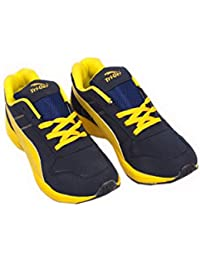 TRIQER 738 RUNNING SPORTS SHOES . (BLACK & YELLOW)