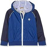 Timberland COUPE-VENT A CAPUCHE Manteau imperméable Garçon Bleu (Indigo Blue Beige 85t) 14 ans (Taille fabricant:14A)