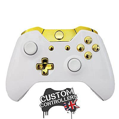 Xbox One Custom Controller - Piano White & Gold