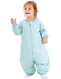 Saco de dormir para bebé con pies para el invierno, Manta con piernas para vestir