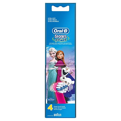 Frozen de Oral-B Stages Power – Cabezales para cepillo de dientes eléctrico – Pack de 6 x 4
