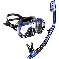 MOVTOTOP Tauchmaske Schnorchelmaske Vollmaske mit 180 Grad Blickfeld und Kamerahaltung Vollgesichtsmaske, 100% Anti-Fog/Anti-Leak für Kinder und Erwachsene …