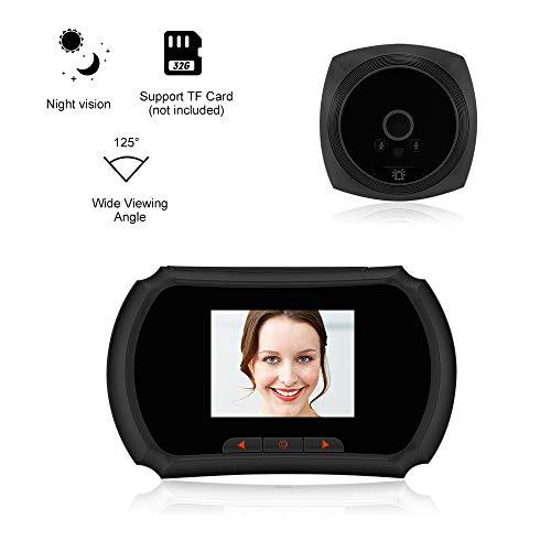 Extaum Cámara de la Puerta de la Mirilla de 1.3MP Monitor LCD de 3 Pulgadas Monitor de Video Visor de la Puerta Timbre Detección de Movimiento PIR Toma de Fotos y grabación de Video