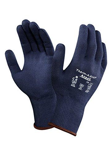 Ansell Therm-A-Knit 78-101 Gants pour usage spécifique, protection mécanique, Bleu, Taille 9 (Sachet de 12 paires)