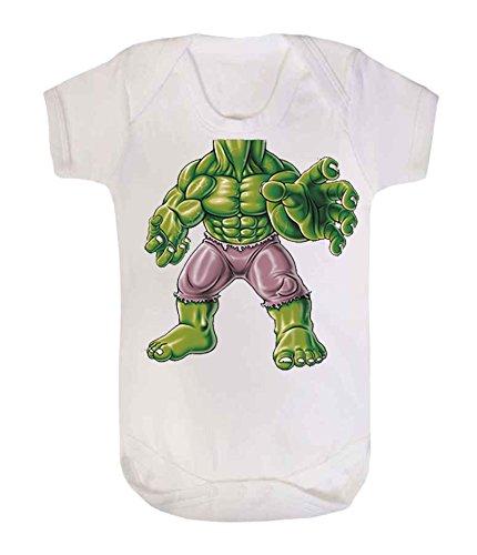 Hulk Body - Chaleco de bebé para bebé (3 – 6 meses), color blanco