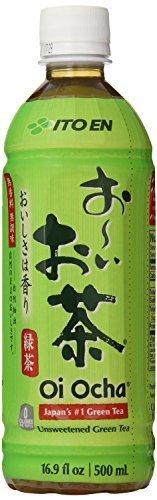 Ito En Tea Beverage, Unsweetened Oi Ocha Green, 16.9 Ounce Bottles (24-count) by Ito En
