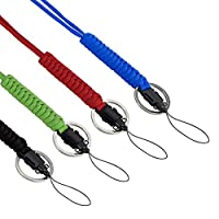 Yababllj 4Pcs Paracord Neck Lanyard Outdoor Survival Keychain Lanyard with Swivel Clasp for Outdoor Hiking Camping Mountain Climbing