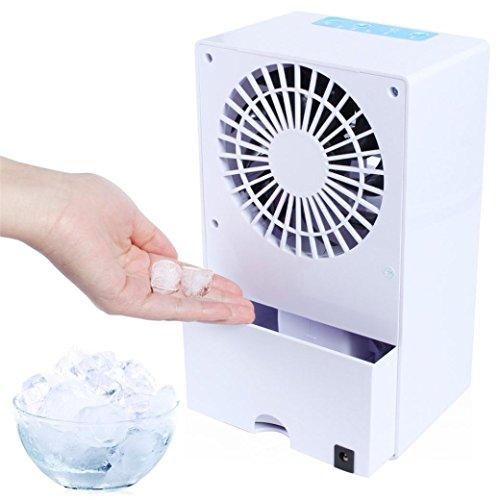 Circolatore Taottao portatile condizionatore d' aria ventilatore mini Evaporative Air Cooler umidificatore, White, 5.69 * 9.54 * 3.93 inch