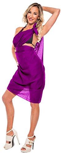 9 Modelle Sarong Pareo Wickelrock Badeanzug Strandtuch Tuch Wickeltuch Handtuch Schließe Strandkleidung Leidenschaftlich Lila