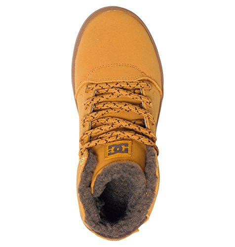 DC Shoes  Crisis, Sneakers Hautes Garçon Marron (Wd4)