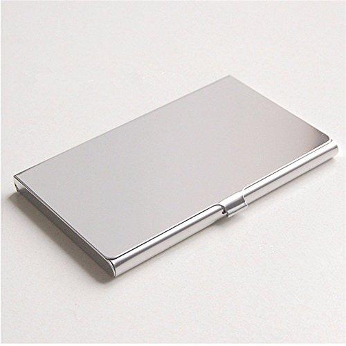 Doutop Visitenkartenetui Edelstahl Visitenkartenhülle Vistenkarten Schutzhülle für EC Kreditkarten Bankkarten RFID Schutz Geschäftskarte Halter Glatte Oberfläche