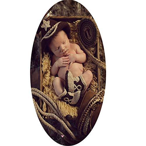 Baby Girl/Boy Fotografie Kostüm Neugeborene Fotografie Props Cowboy Modell Kostüm, Baby Foto Shooting - Baby Boy Cowboy Kostüm