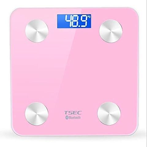 Jingzou Bluetooth intelligente Körper Skalen Skala Haushalt Fett Skalen Erwachsenen smart Skalen Gesundheit elektronischen sagte28*28CM