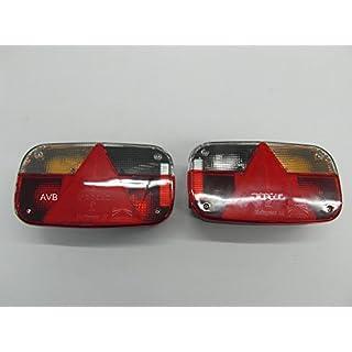Aspöck Multipoint 3 Rückleuchten Rücklichter Set für Pkw Anhänger links & rechts mit Rückfahrscheinwerfer