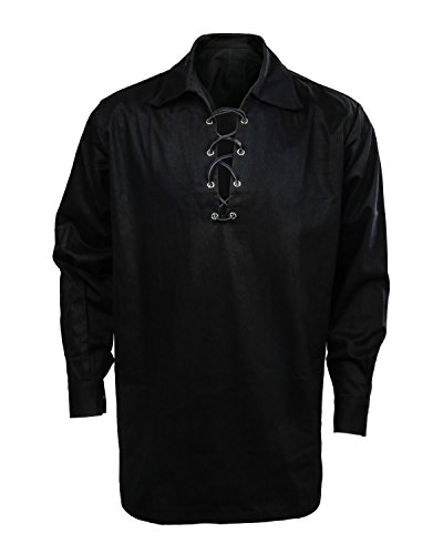 Cusfull Camisa Escocesa Hombre Estilo Jacobite Kilt