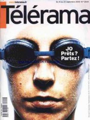 TELERAMA [No 2644] du 16/09/2000 - JEUX OLYMPIQUES - PRETS. par Collectif