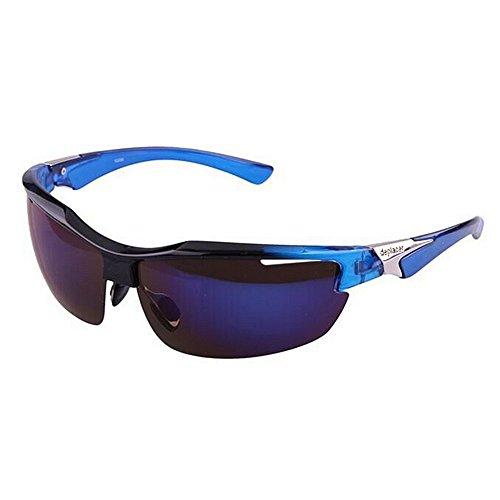 Hnks Fahrradbrille Männer Frauen Für Outdoor Radfahren Baseball Laufen Coole Polarisierte Sport Sonnenbrille Angeln Golf Klettern Ultraleichtes Rahmendesign für Männer und Frauen (Farbe : Blau)