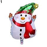 FEIDA Luftballons Weihnachtsmann Weihnachtsmann Baum Schneemann Alufolie Ballon Weihnachten Party Home Decor 1#