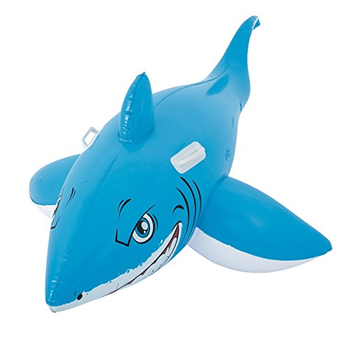 Dabuty Online, S.L. Flotador hinchable Tiburon para playa o piscina tamaño 186...