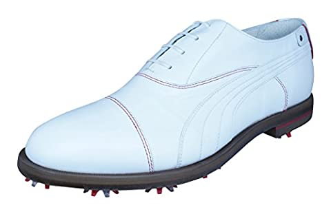 Puma SF Lux Limited Ferrari Leather Golf Shoes-White-10