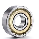 ANCIRS 20-pack 606ZZ Ball Kugellager, Metall, abgeschirmt Miniatur Deep Groove Ball Kugellager (6mm x 17mm x 6mm)