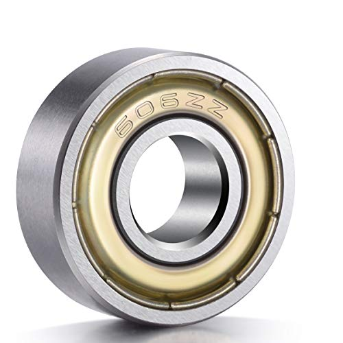 ANCIRS 20-Pack 606ZZ rodamientos de bolas, metal blindado miniatura Rodamientos de bolas (6mm x 17mm x 6mm)