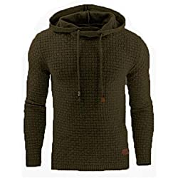 Men's Medium Cotton Blend Sweatshirt Sleeve Slim Hoodie Hoodie Autumn Winter Shirt Shirt Jacket