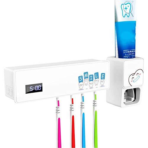 Automatische Sterilisator (ZDDT UV-Zahnbürsten-Sterilisator Automatischer Zahnpastaspender Freies Stanzen Badezimmer-Zahnbürstenständer Zahnbürsten-Sterilisator)
