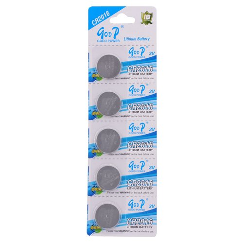 Center One 5 Pcs Set CR2016 3V 75mAh Button Cell Lithium Battery