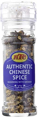 KTC Condimento de Mezcla de Especias Chinas con Molinillo - Paquete de...
