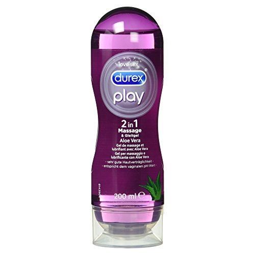 Durex Play 2in1 Massage & Gleitgel, Aloe Vera, 1er Pack (1x 200ml)