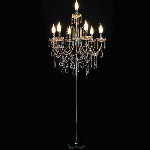 Kristall Stehlampe europäischen Wohnzimmer Hochzeit Villa führte Kerze Stehlampe 0601P Villa Kerze