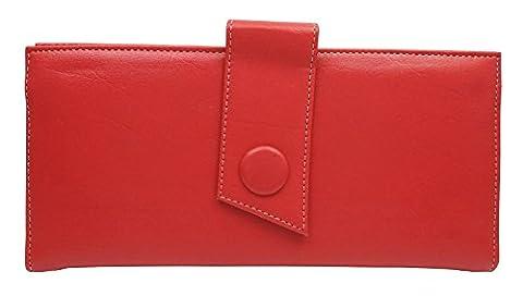 IIK Collection Embrayage main sac à main pochette Pouch fermeture magnétique en Faux cuir féminin - 10 x 4,7 pouces