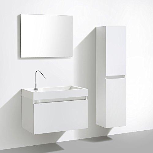 Badmöbelset mit Spiegel – Manhattan 80 cm - 5