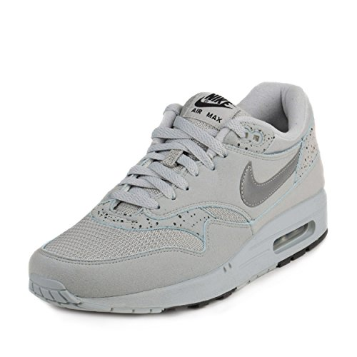 Nike Mens Air Max 1 ID Try On Metallic Silver/Black Suede Size 10