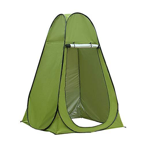 HI SUYI Tragbares Pop-Up-Zelt für Camping, Dusche, Zelt, Sichtschutz, WC mit UV-Schutz für den Außenbereich, Strand, Park, grün
