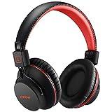 Mpow H1 Cuffie Bluetooth, Cuffie Bluetooth Over-Ear 4.1, Autonomia 20 Ore, Cuffie Wireless con Microfono e Hi-Fi Suono e Bassi Ricchi, Passiva Riduzione di Rumore, Cuffie per Celluallari/PC/TV-Rosso