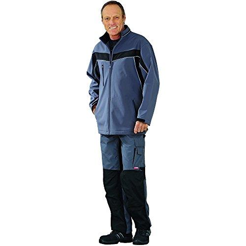 Plaline Arbeitskleidung Softshell Jacke rot/schiefer schiefer/schwarz