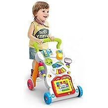 Haehne Primeros Pasos Bebé Actividad Andadores, Patrón Múltiple, Sentar & Jugar, Música Piano, Estar & Caminar, Juguete de aprendizaje, Desarrollo de Inteligencia